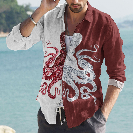 Octopus Cotton And Linen Casual Shirt KH260110