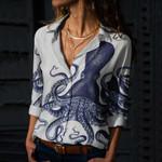 Octopus Cotton And Linen Casual Shirt KH260109