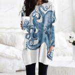 Octopus Pocket Long Top Women Blouse KH260107