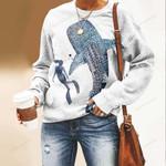 Scuba - Whale Unisex All Over Print Cotton Sweatshirt KH260101