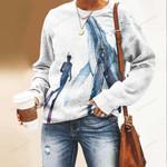 Scuba - Whale Unisex All Over Print Cotton Sweatshirt KH260105