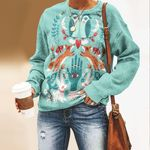 Folk Art Fortune Unisex All Over Print Cotton Sweatshirt QA270101