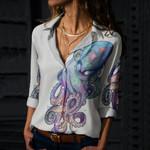 Octopus Cotton And Linen Casual Shirt KH270101
