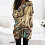 Octopus Pocket Long Top Women Blouse KH270102