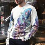 Octopus Unisex All Over Print Cotton Sweatshirt KH270101