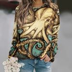 Octopus Unisex All Over Print Cotton Sweatshirt KH270102