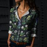 Witches Weeds Cotton And Linen Casual Shirt QA280107