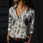 Owls Of The World Cotton And Linen Casual Shirt QA280108