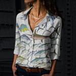 Tropical Atlantic Gamefish Cotton And Linen Casual Shirt QA280104