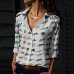 Caribbean Reef Life - Scuba Diving Cotton And Linen Casual Shirt QA280110