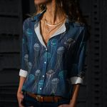 Jellyfish Cotton And Linen Casual Shirt CH290105