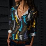 Shark Cotton And Linen Casual Shirt CH290110