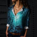 Shark Cotton And Linen Casual Shirt CH290113