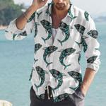 Shark Cotton And Linen Casual Shirt CH290115
