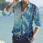 Dolphin Cotton And Linen Casual Shirt CH290117