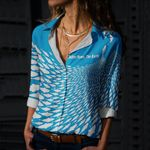 Fishes Cotton And Linen Casual Shirt CH290121