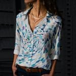 Fishes Cotton And Linen Casual Shirt CH290122