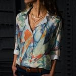 Fishes Cotton And Linen Casual Shirt CH290123