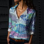 Fishes Cotton And Linen Casual Shirt CH290124