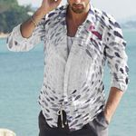 Fishes Cotton And Linen Casual Shirt CH290125