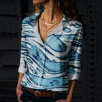 Fishes Cotton And Linen Casual Shirt CH290128