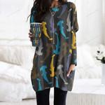 Shark Pocket Long Top Women Blouse CH290110