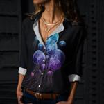 Night Jellyfish Cotton And Linen Casual Shirt QA290104