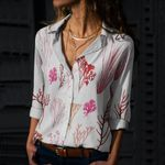 Sea Weeds Cotton And Linen Casual Shirt QA290107