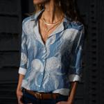 Jellyfish Cotton And Linen Casual Shirt QA290108