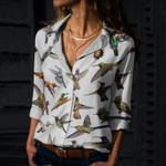 Humming Bird Cotton And Linen Casual Shirt QA290111