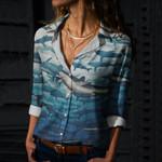 Shark Week Cotton And Linen Casual Shirt QA290114