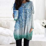 Fishes Pocket Long Top Women Blouse CH290118