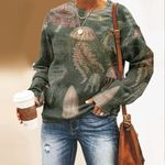 Vintage Ocean Jellyfish Unisex All Over Print Cotton Sweatshirt QA290113