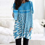 Fishes Pocket Long Top Women Blouse CH290121