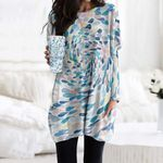 Fishes Pocket Long Top Women Blouse CH290122