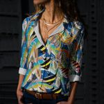Fishes Cotton And Linen Casual Shirt CH010206