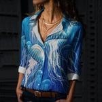 Jellyfish Cotton And Linen Casual Shirt CH010207