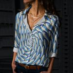 Fishes Cotton And Linen Casual Shirt CH010215