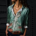 Mushroom Cotton And Linen Casual Shirt CH010217