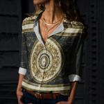 Mandala Cotton And Linen Casual Shirt CH010222