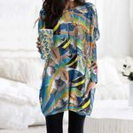 Fishes Pocket Long Top Women Blouse CH010206
