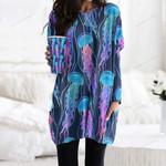 Jellyfish Pocket Long Top Women Blouse CH010208
