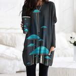 Mushroom Pocket Long Top Women Blouse CH010209