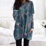 Whale Pocket Long Top Women Blouse CH010210