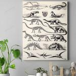 Dinosaur Fossils Canvas Prints Type A QA130107