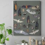 Species Of Bats Canvas Prints Type A QA210104