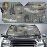 Species Of Bats Car Sunshade QA210104