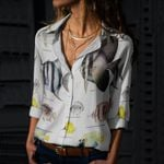 Archerfish, Bermuda Chub - Marine Life Cotton And Linen Casual Shirt KH010217