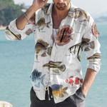 Discus Fish, Kelp Perch - Marine Life Cotton And Linen Casual Shirt KH010218