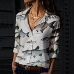 Dace, Bream - Marine Life Cotton And Linen Casual Shirt KH010220